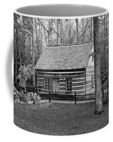 Buildings Coffee Mug featuring the photograph Hesler Log Home 10234b by Guy Whiteley