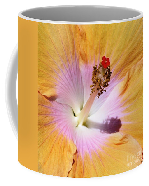 Hibiscus Coffee Mug featuring the photograph Hibiscus Center by Mary Deal