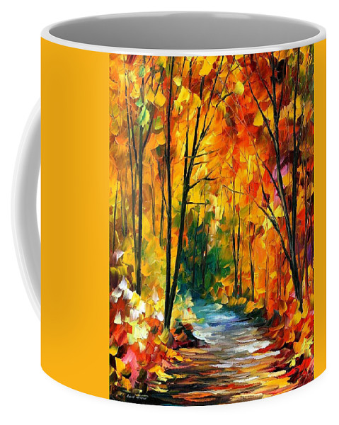 Oil Paintings Coffee Mug featuring the painting Hidden Emotions - Palette Knife Oil Painting On Canvas By Leonid Afremov by Leonid Afremov