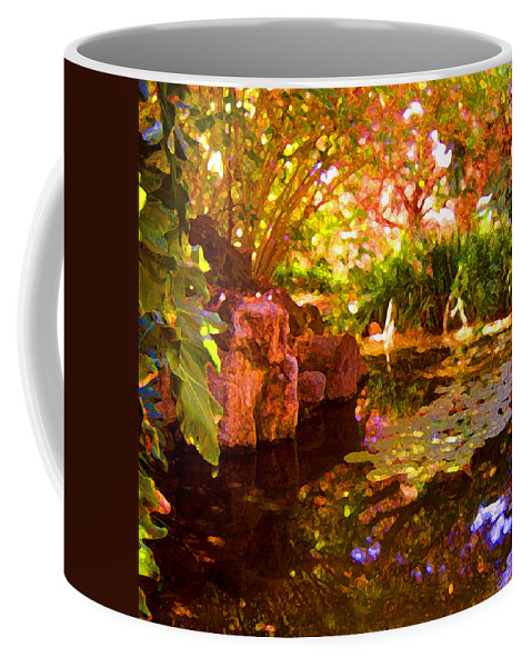 Water Landscape Coffee Mug featuring the painting Hidden Pond by Amy Vangsgard