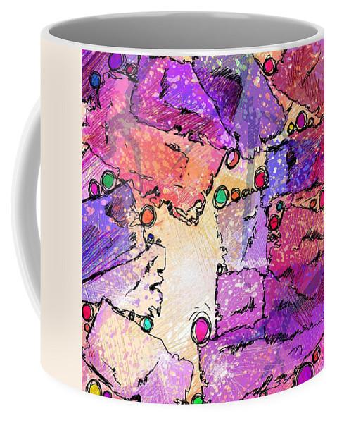 Abstract Coffee Mug featuring the digital art Hide And Seek by Rachel Christine Nowicki