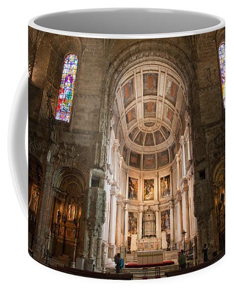 Jeronimos Coffee Mug featuring the photograph High Altar In Church Of Jeronimos Monastery by Artur Bogacki