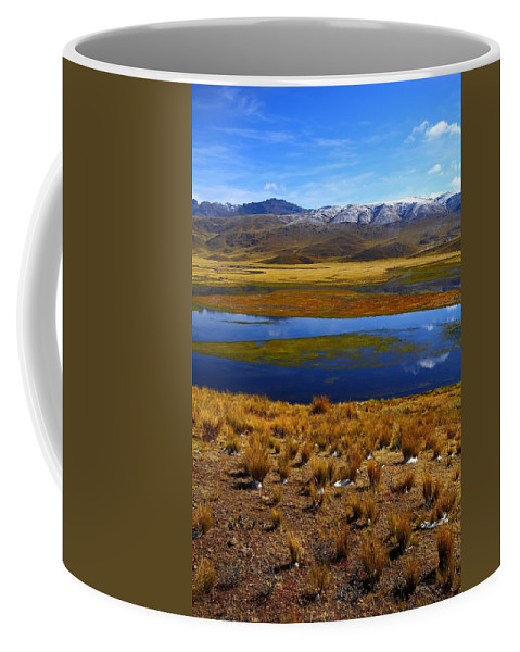 Peru Coffee Mug featuring the photograph High Altitude Reflections by FireFlux Studios
