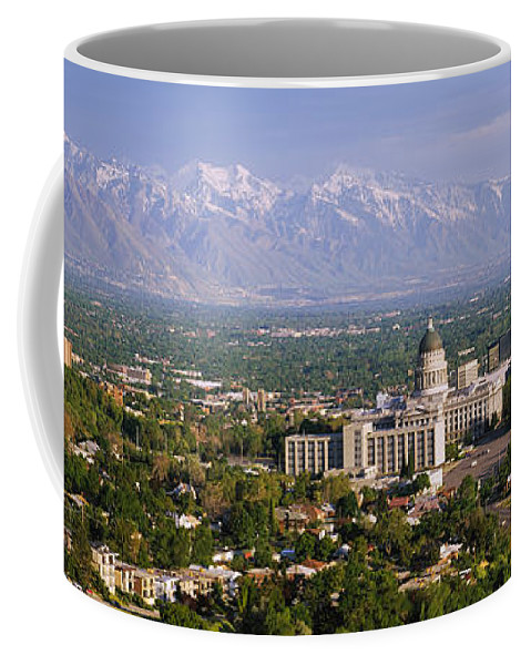 Photography Coffee Mug featuring the photograph High Angle View Of A City, Salt Lake by Panoramic Images