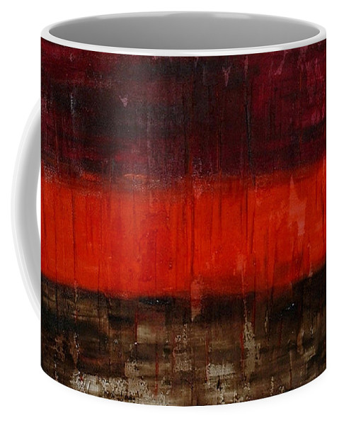 Abstract Coffee Mug featuring the painting High Energy by Silvana Abel