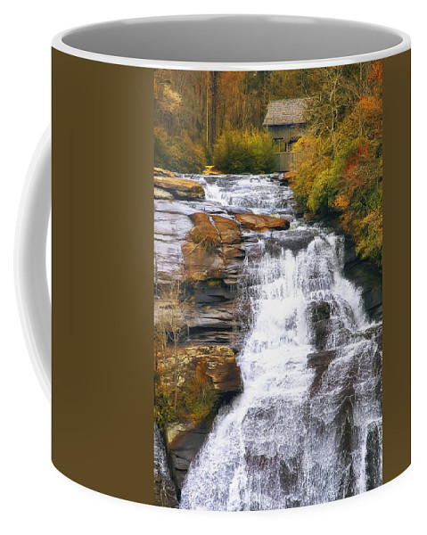 Water Coffee Mug featuring the photograph High Falls by Scott Norris