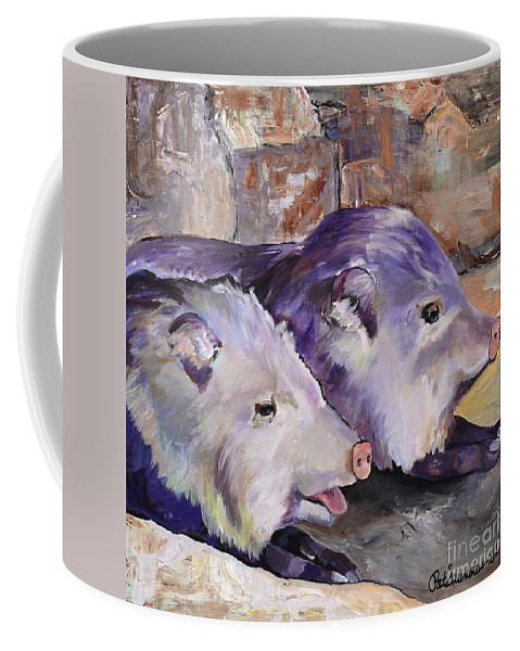 Pat Saunders-white Coffee Mug featuring the painting High Noon Siesta by Pat Saunders-White