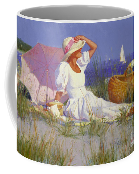 Impressionist Coffee Mug featuring the painting High On A Dune by Candace Lovely