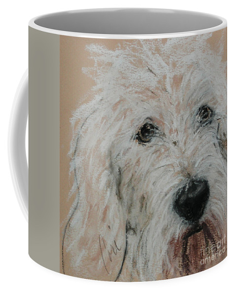 Dog Coffee Mug featuring the drawing High Spirits by Cori Solomon