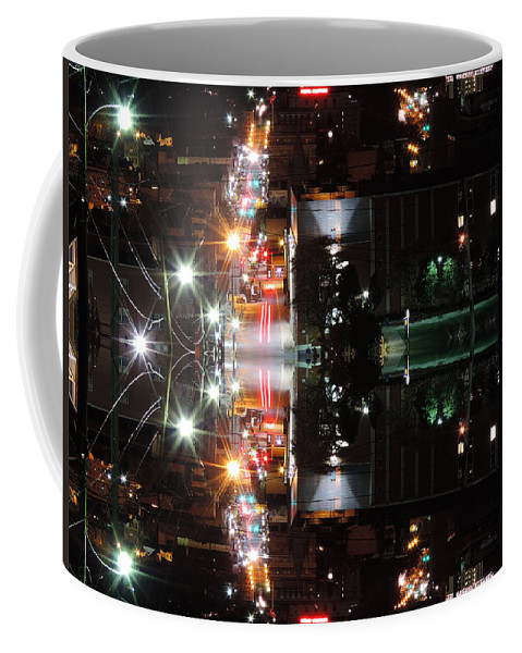 City Coffee Mug featuring the photograph High Street Reflection by Cityscape Photography