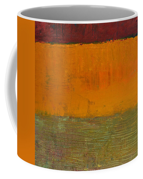 Abstract Expressionism Coffee Mug featuring the painting Highway Series - Grasses by Michelle Calkins