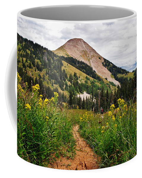3scape Coffee Mug featuring the photograph Hiking In La Sal by Adam Romanowicz