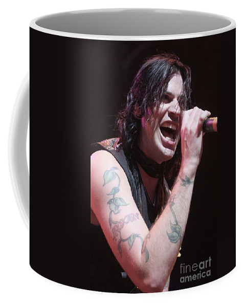 Singer Coffee Mug featuring the photograph Hinder by Concert Photos