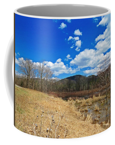 Coffee Mug featuring the photograph Hint Of Spring Green by MTBobbins Photography