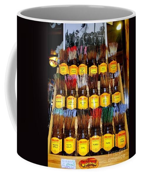 Incense Coffee Mug featuring the photograph Hippie Heaven by Ed Weidman