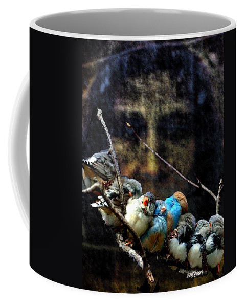 His Eye Is On The Sparrow Coffee Mug featuring the digital art His Eye Is On The Sparrow by Seth Weaver