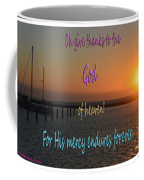 Boats Coffee Mug featuring the photograph His Mercy Endures Forever by Leticia Latocki