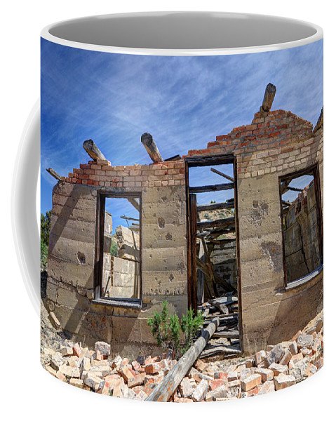 Historic Coffee Mug featuring the photograph Historic Building Nine Mile Canyon - Utah by Gary Whitton