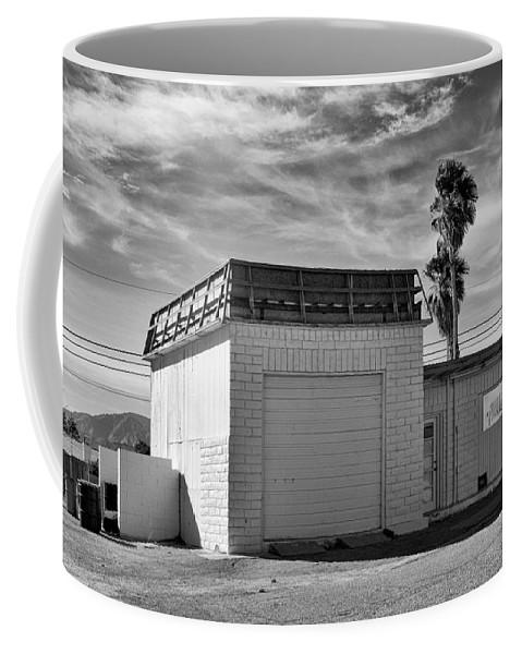 Gas Coffee Mug featuring the photograph Historic Estrella Gas Station Desert Hot Springs by William Dey