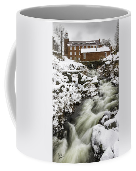 Nh Coffee Mug featuring the photograph Historic Harrisville Nh In Winter by Betty Denise