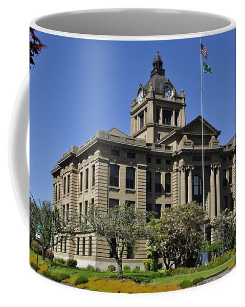 Courthouse Coffee Mug featuring the photograph Historical Montesano Courthouse by Tikvah's Hope