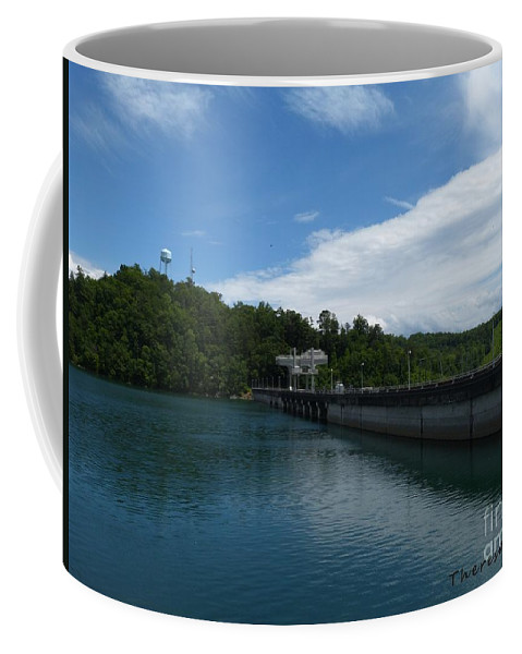 Tva Dam Coffee Mug featuring the photograph Hiwassee Dam 3 by Theresa Asher