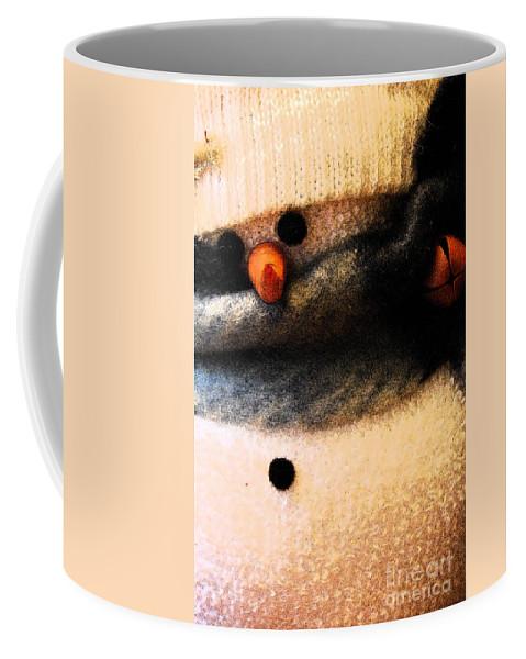 Snowmen Coffee Mug featuring the photograph Hobo Snowman Iv by Jani Freimann