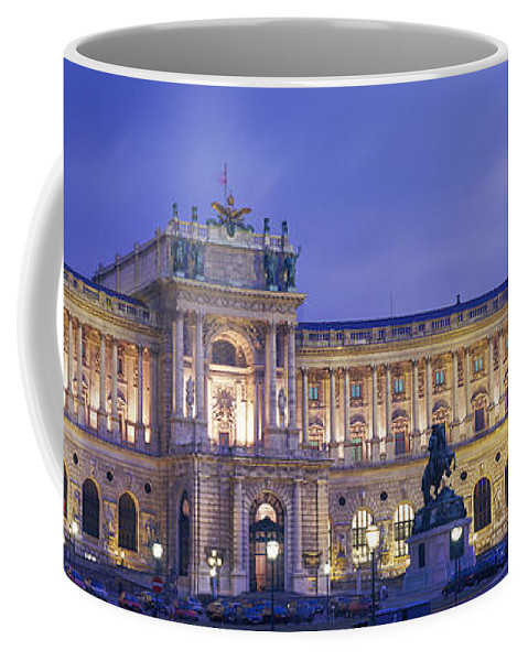 Photography Coffee Mug featuring the photograph Hofburg Imperial Palace, Heldenplatz by Panoramic Images