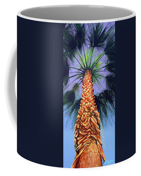 Palm Tree In Palm Springs California Coffee Mug featuring the painting Holding Onto The Earth by Hunter Jay