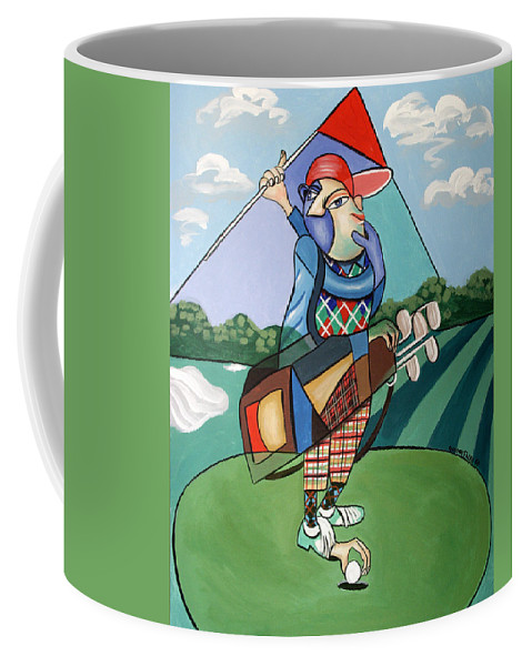 Hole In One Coffee Mug featuring the painting Hole In One by Anthony Falbo
