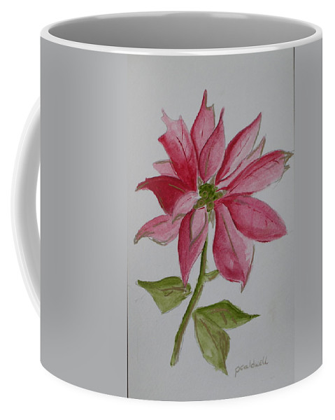 Flower Christmas Coffee Mug featuring the painting Holiday Flower by Patricia Caldwell