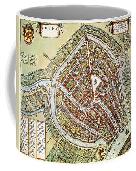 1649 Coffee Mug featuring the photograph Holland: Gouda Plan, 1649 by Granger