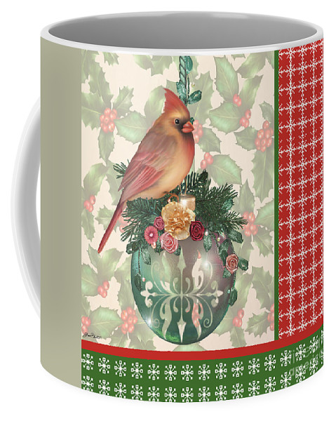 Digital Art Coffee Mug featuring the digital art Holly And Berries-a by Jean Plout