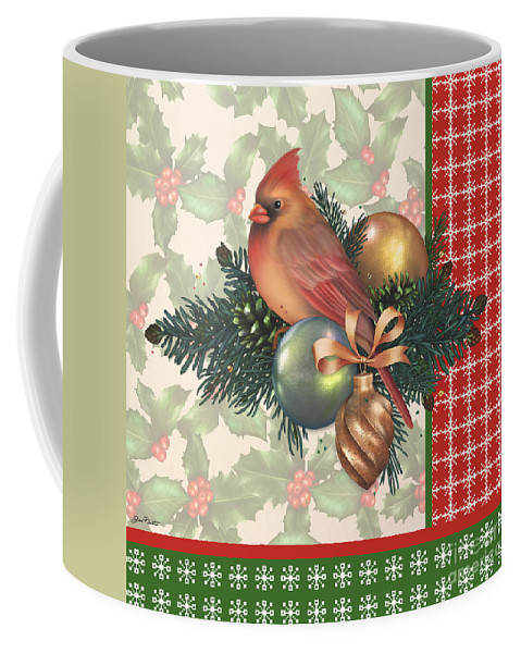 Digital Art Coffee Mug featuring the digital art Holly And Berries-c by Jean Plout