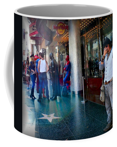 Photo Coffee Mug featuring the photograph Hollywood Super Heros by T Cook