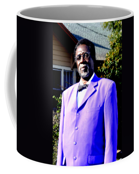 Vertical Coffee Mug featuring the photograph Hollywood Wearing His Dress Suit And Bow Tie Color Photo Usa by Sally Rockefeller
