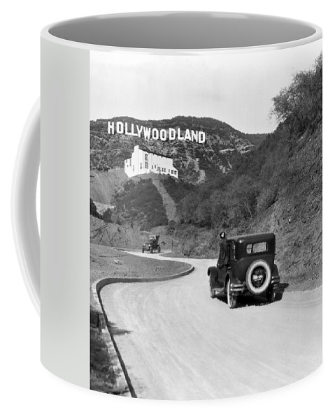 1924 Coffee Mug featuring the photograph Hollywoodland by Underwood Archives