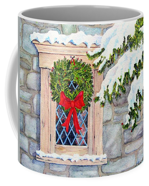 Holidays Coffee Mug featuring the painting Home For The Holidays by Mary Ellen Mueller Legault