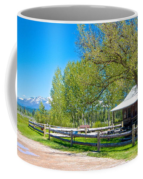 Polebridge Home Coffee Mug featuring the photograph Home In Polebridge On West Side Of Glacier Np-mt by Ruth Hager