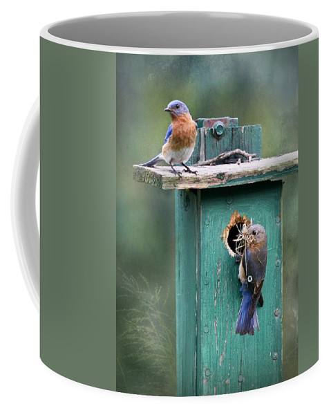 Bird Coffee Mug featuring the photograph Home Sweet Home by Lori Deiter