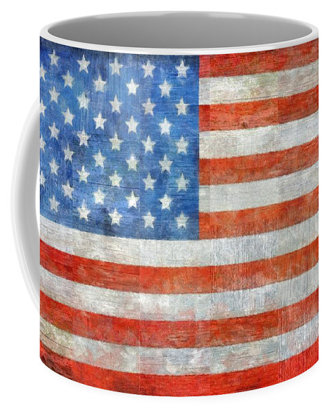 Flag Coffee Mug featuring the painting Homeland by Michelle Calkins