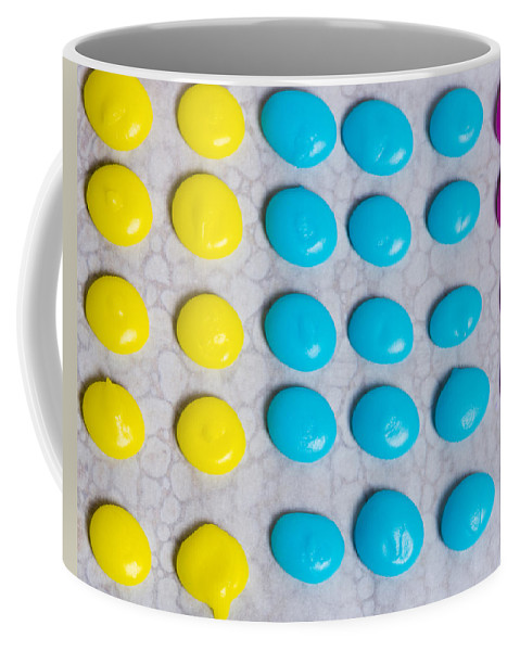 Food Coffee Mug featuring the photograph Homemade Candy Dots by John Trax