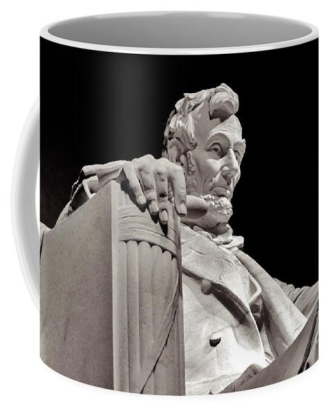 2011 Coffee Mug featuring the photograph Honest Abe by Nicholas Pappagallo Jr