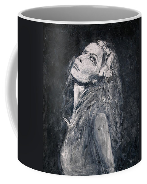 Portrait Coffee Mug featuring the painting Honeysuckle by Jarmo Korhonen aka Jarko