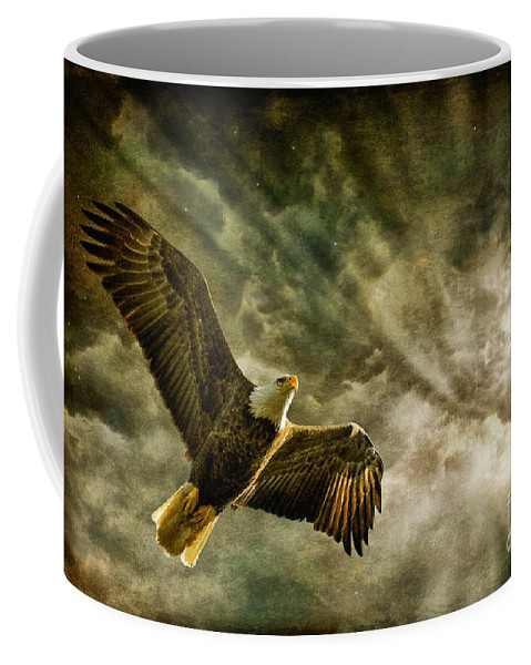 Eagle Coffee Mug featuring the photograph Honor Bound In Blue by Lois Bryan