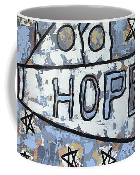 Hope Coffee Mug featuring the painting Hope by Anthony Falbo