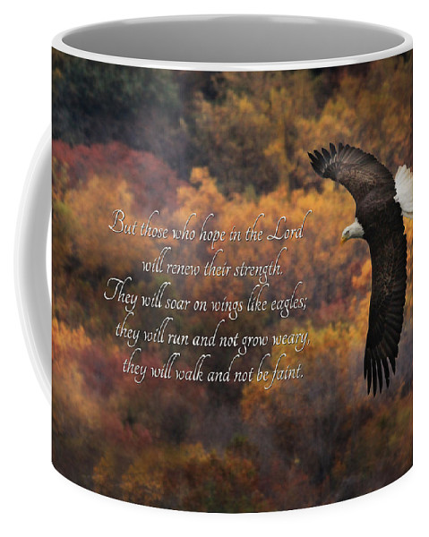 Hope In The Lord Coffee Mug featuring the photograph Hope In The Lord by Lori Deiter