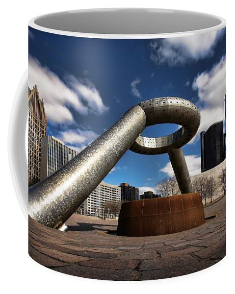 Hart Plaza Coffee Mug featuring the photograph Horace Dodge Fountain Hart Plaza Detroit Michigan by Gordon Dean II