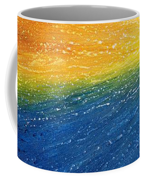 Abstract Coffee Mug featuring the painting Horizon by Laura Teti