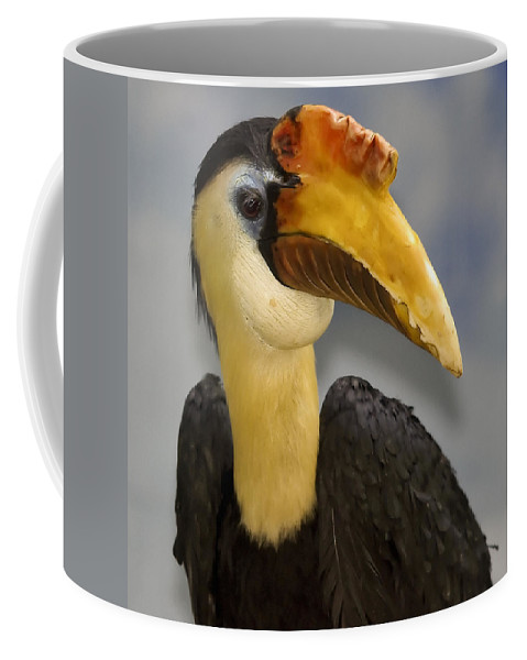 Beak Coffee Mug featuring the photograph Hornbill 2 by Ingrid Smith-Johnsen